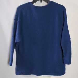 Free People Sweaters - Free People Wool Yak Blend Blue V Neck Sweater XS